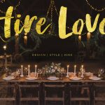 Hire Love UK home image with event furnishings and stylings with logo